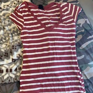 Striped wet seal tee